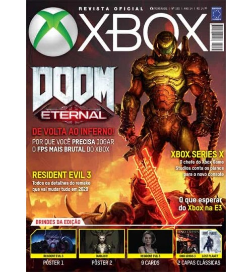 Revista Oficial Xbox - Doom Eternal, De volta ao inferno! N° 165