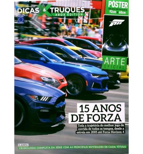 Revista Superpôster Dicas & Truques Xbox  - 15 anos de Forza