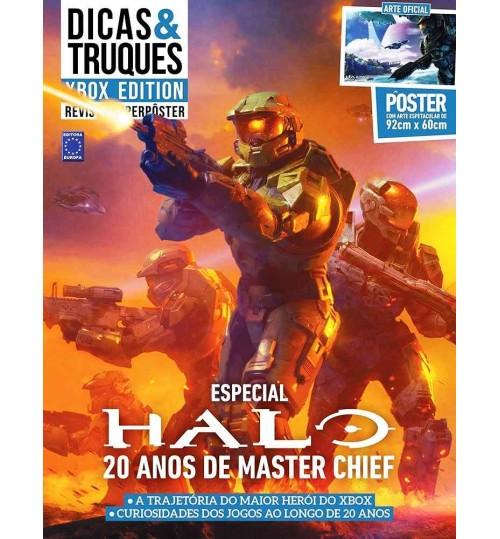Revista Superpôster Dicas & Truques Xbox Edition - Halo 20 anos de Master Chief