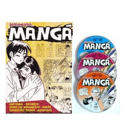 Kit Livro Desenhando Mangá com 3 Dvd's Grátis