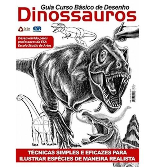 Revista Guia Curso Básico de Desenho Dinossauros