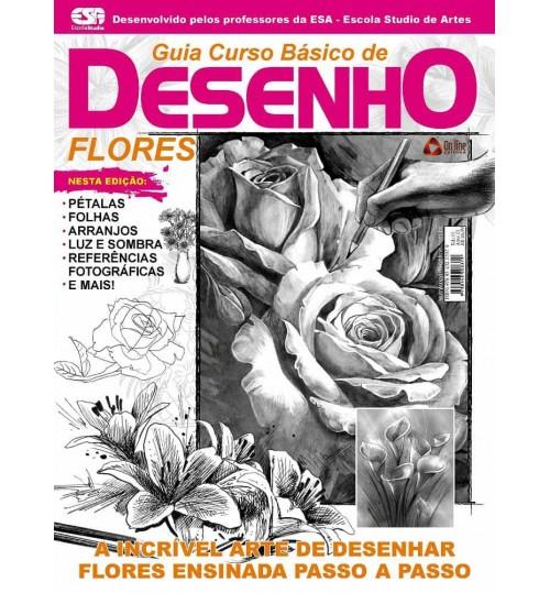 Revista Guia Curso Básico de Desenho Flores