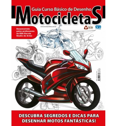 Revista Guia Curso Básico de Desenho Motocicletas