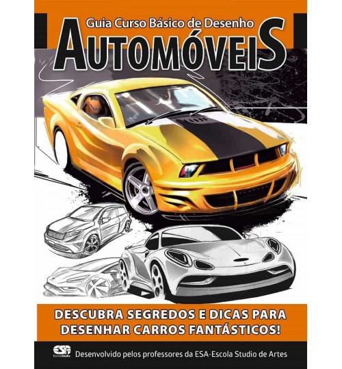 Revista Guia Curso Básico de Desenhos Automóveis