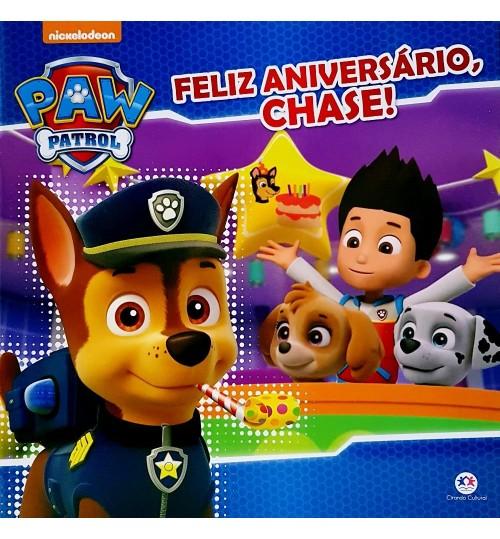 Livro Patrulha Canina Feliz Aniversário, Chase!