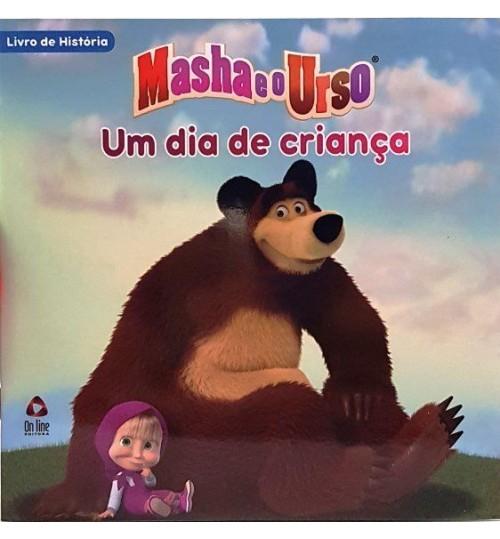 Livro de História Masha e o Urso Um Dia de Criança
