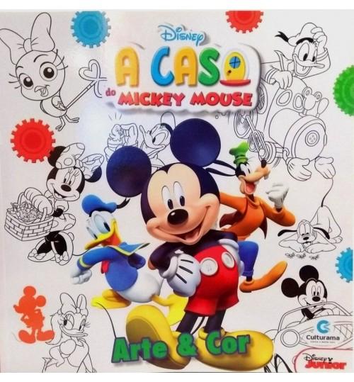 Livro para Colorir A Casa do Mickey Mouse - Arte e Cor