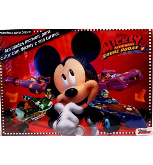 Prancheta para Colorir Mickey Mouse Aventuras Sobre Rodas