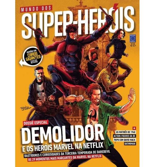 Revista Mundo dos Super-Heróis - Demolidor e os Heróis Marvel na Netflix N°104