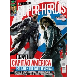 Revista Mundo dos Super-Heróis - O Novo Capitão América Falcão e Soldado Invernal N° 120