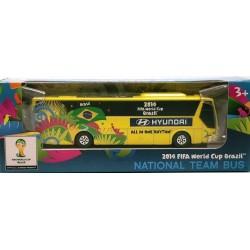 Miniatura Ônibus Hyundai Brasil Copa Do Mundo