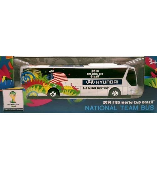 Miniatura Ônibus Hyundai Estados Unidos Copa Do Mundo