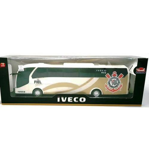 Miniatura Ônibus Iveco Corinthians Branco