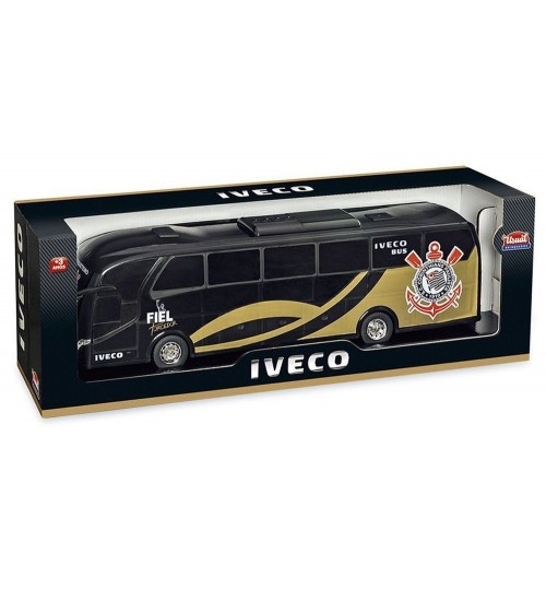 Miniatura Ônibus Iveco Corinthians Preto