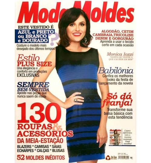 Revista Moda Moldes 130 Roupas e Acessórios da Meia Estação ( Vestido Azul) N° 72