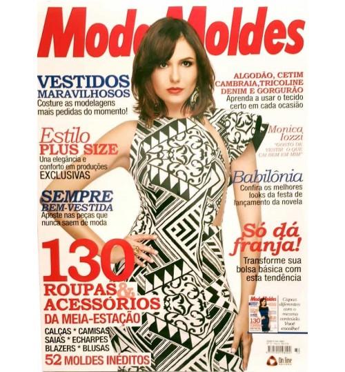 Revista Moda Moldes 130 Roupas e Acessórios da Meia Estação (Vestido Branco) N° 72