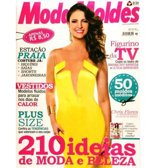 Revista Moda Moldes 210 ideias de Moda e Beleza (Vestido Amarelo) N° 69