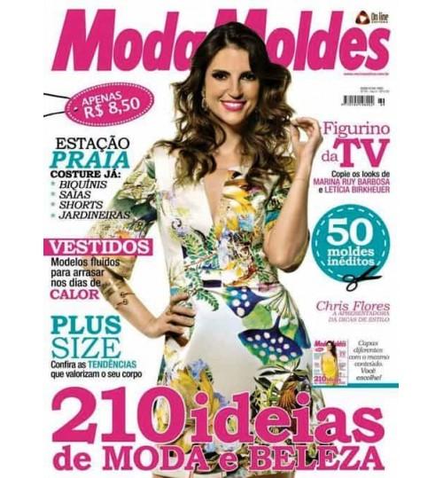 Revista Moda Moldes 210 ideias de Moda e Beleza (Vestido Florido) N° 69