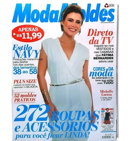 Revista Moda Moldes 272 Roupas e Acessórios para Você ficar Linda! N° 90