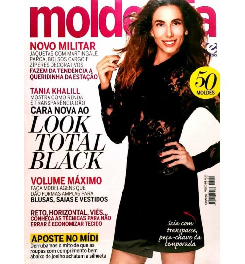 Revista Molde & Cia Cara Nova ao Look Total Black N° 122