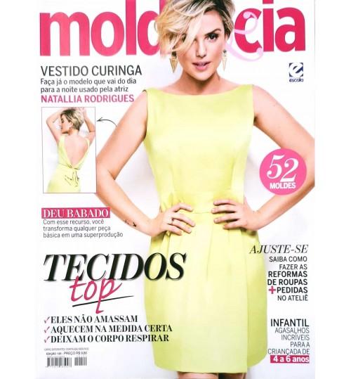 Revista Molde & Cia Tecidos Top (Vestido Amarelo) N° 120