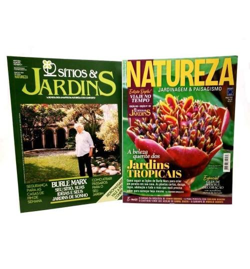Revista Natureza - Jardins Tropicais N° 400 + Edição 1 de Sítios & Jardins