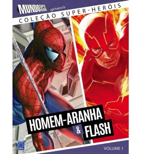 Livro Coleção Super-Heróis Volume 1: Homem-Aranha e Flash