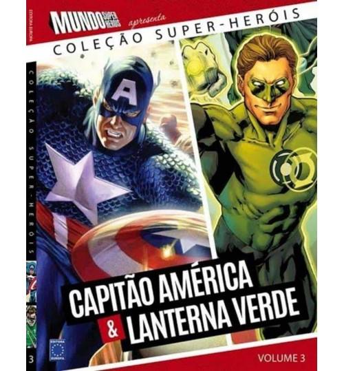 Livro Coleção Super-Heróis Volume 3: Capitão América e Lanterna Verde