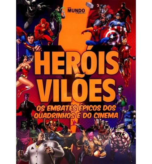 Revista Guia Heróis X Vilões Os Embates Épicos dos Quadrinhos e do Cinema