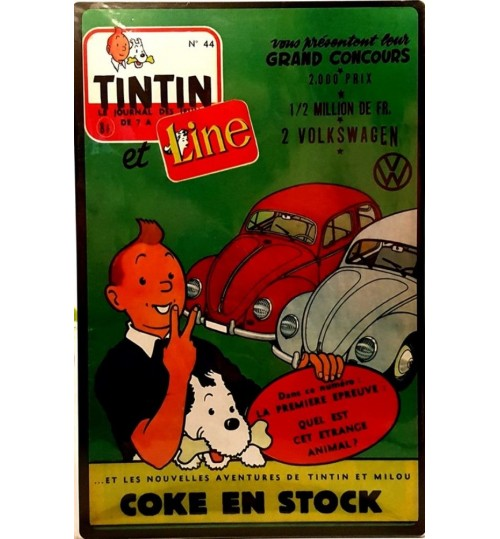 Quadro Retrô Fuscas Tintin
