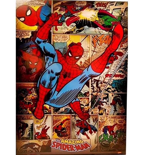 Quadro Retrô Homem Aranha - Spider Man