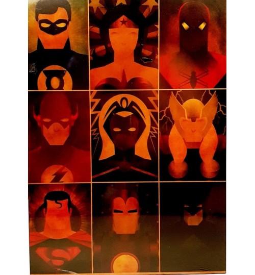 Quadro Retrô Liga da Justiça - Justice League