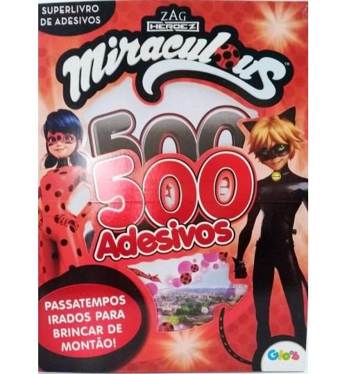 Superlivro de Adesivos Miraculous Ladybug 500 Adesivos e Passatempos irados