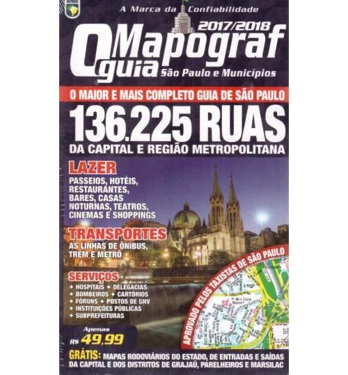 Guia de Ruas O Mapograf São Paulo e Municípios 2017/2018