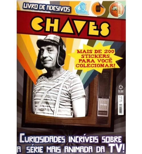 Livro de Adesivos Chaves com mais de 200 Adesivos