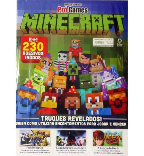 Livro de Adesivos Minecraft com mais de 230 Adesivos