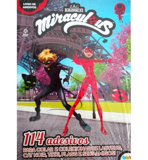 Livro de Adesivos Miraculous Ladybug 114 Adesivos