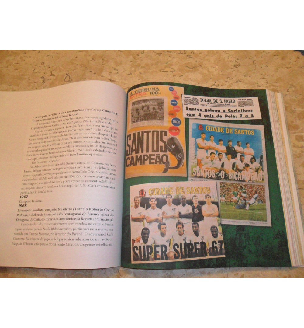 Livro 10 Décadas A História do Santos Futebol Clube f4a6da0a30304