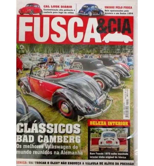 Revista Fusca & Cia N°122 Clássicos Bad Camberg