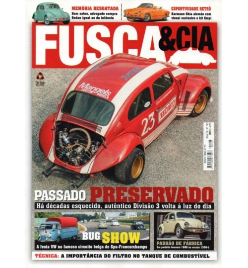 Revista Fusca & Cia N° 125 Passado Preservado