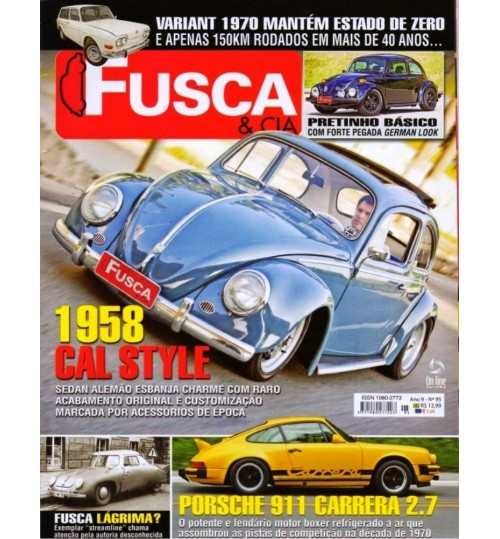Revista Fusca & Cia N° 95 - 1958 Cal Style