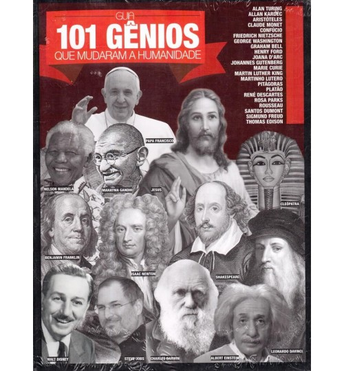 Revista Guia 101 Gênios que mudaram a Humanidade