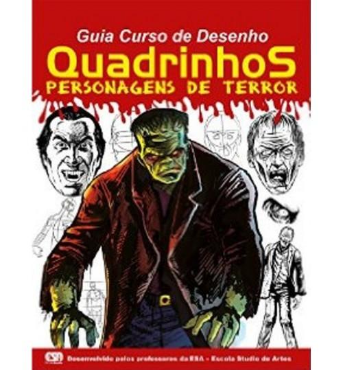 Revista Guia Curso de Desenho Quadrinhos Personagens de Terror Grátis 2 Lápis Pretos