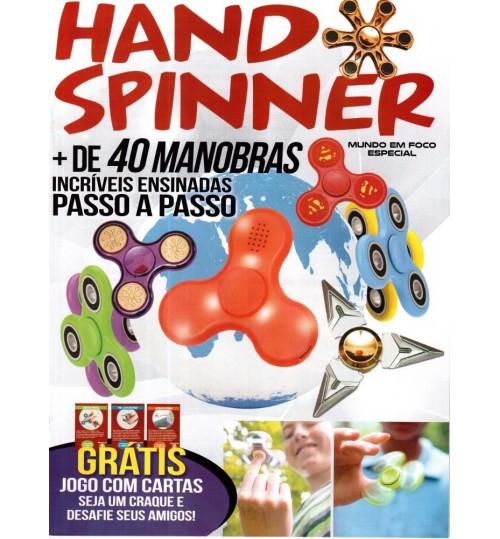 Revista Hand Spinner + 40 manobras GRÁTIS jogo cartas
