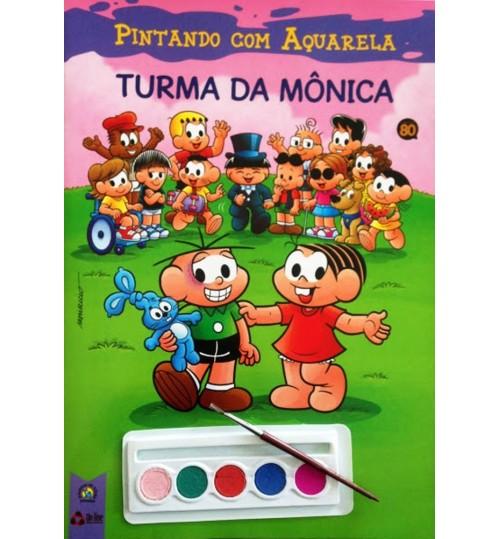 Revista Turma da Mônica Pintando com Aquarela