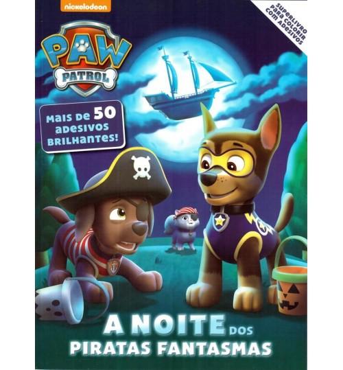 Superlivro para Colorir com 50 Adesivos Brilhantes Da Patrulha Canina (Paw Patrol)